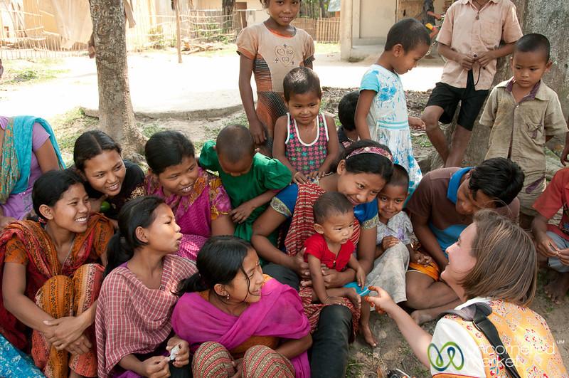 Audrey Practices Baby Diplomacy in Garo Village - Srimongal, Bangladesh