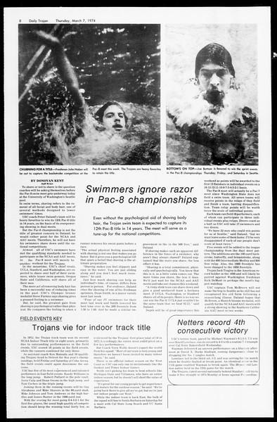 Daily Trojan, Vol. 66, No. 85, March 07, 1974