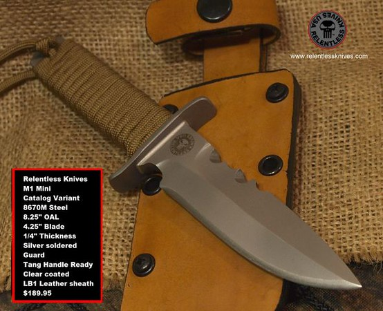 Relentless Knives M1  Mini 2016 Catalog Variant