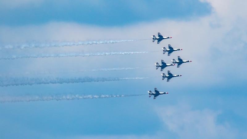 USAF Thunderbirds Flyover of Austin, TX - Wed, May 13, 2020