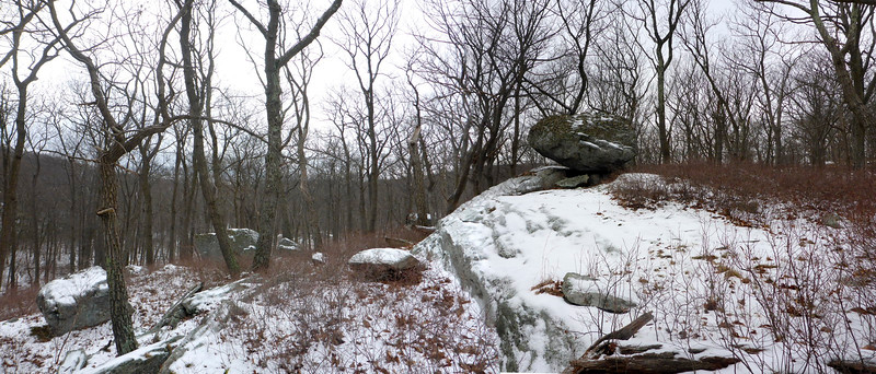 Nice erratic in the woods, not far from the junction of the LP and Menomine Trail.