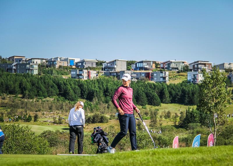 Guðrún Brá Björgvinsdóttir.  Íslandsmót golf 2019 Grafarholt - 1. keppnisdagur. Mynd: seth@golf.is