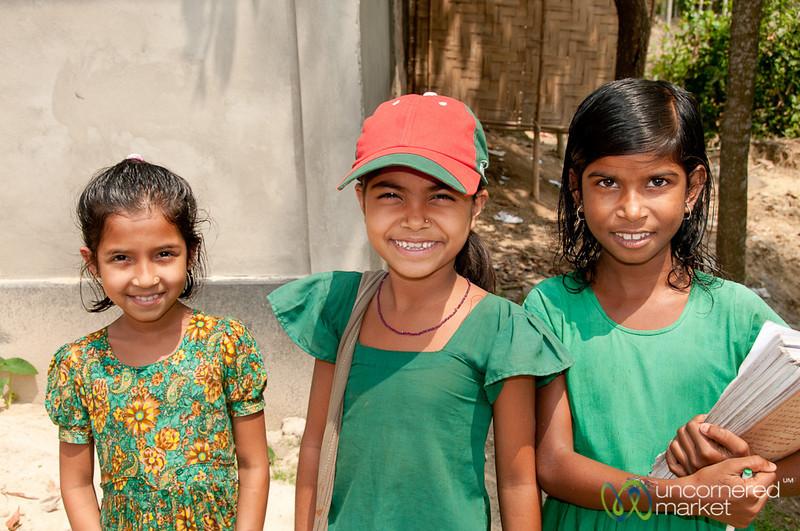 School Kids on Lunch Break - Outside Srimongal, Bangladesh
