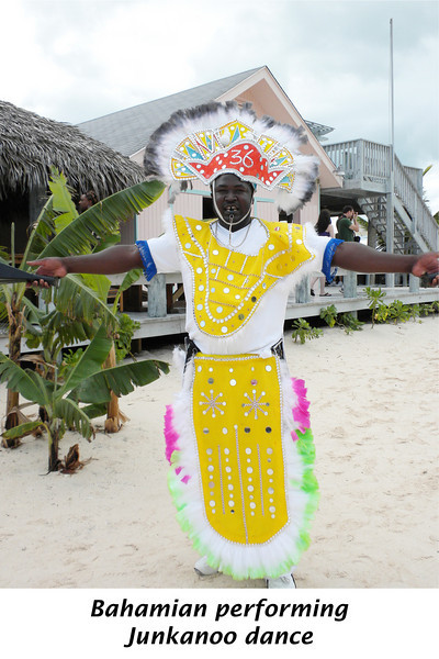 """Bahamian perfoming Junkanoo dance - """"Junkanoo is a Bahamian festival that occurs during the dark hours of morning on the 26th of December and again bringing in its first hours of light on the first day of the new year."""" http://www.bahamasgateway.com/junkanoo.htm"""