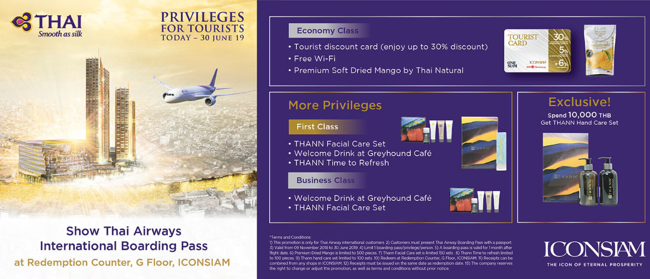 All Passengers Can Enjoy Boarding Pass Discounts at ICONSIAM of up to 30% with Thai Airways