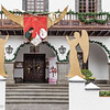 Rathaus von Los Llanos de Aridane mit Weihnachtsengeln in La Palma