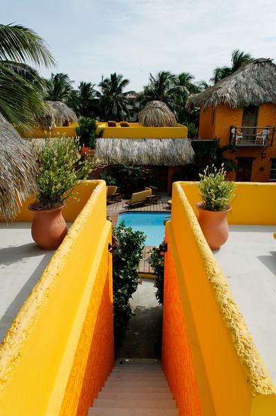At Seaside Cabanas on Caye Caulker, Belize.