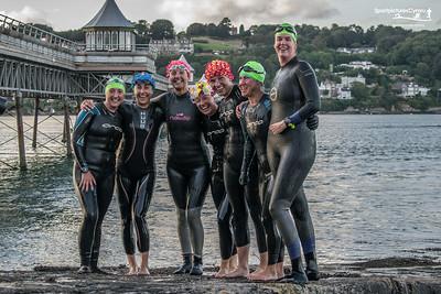 Tîm Irfon - Beaumaris to Bangor Straits Swim - Finish