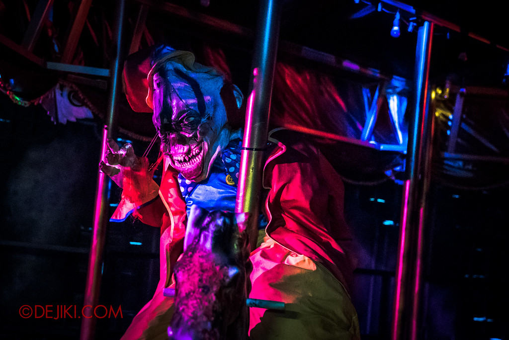 Halloween Horror Nights 6 Final Weekend - Bodies of Work revisited / Carousel Clown