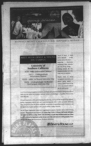 Daily Trojan, Vol. 135, No. 17, September 28, 1998