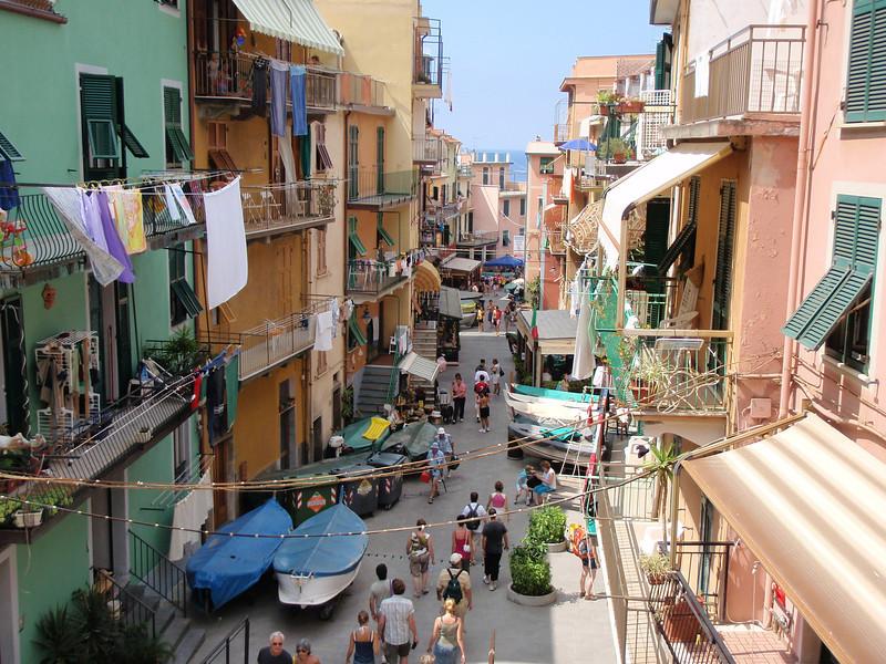 Riomaggiore - street, Cinque Terre, Italy