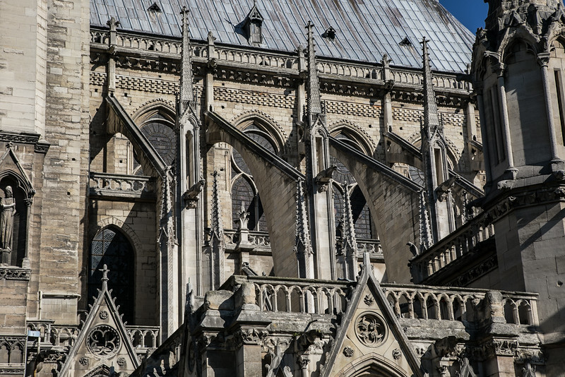 Paris, Notre-Dame Cathedral Buttresses