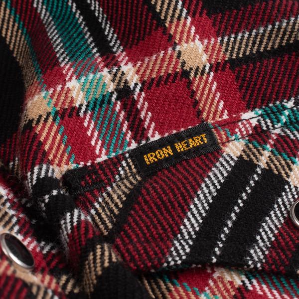 Black Crazy Check Ultra Heavy Flannel Western Shirt--5.jpg
