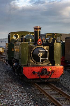 Rheidol valley railway with no.8