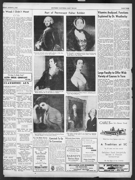 Summer Trojan, Vol. 19, No. 13, August 06, 1940