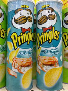 Soft-Shell Crab flavored Pringles from Indonesia | Courtesy of Ve We http://Twitter.com/VEWE