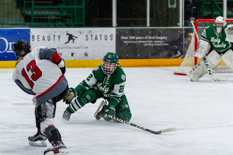 Holy Family's Olivia Paidosh '23 (22) vs. Eden Prairie at Braemar Arena - Collin Nawrocki/The Phoenix
