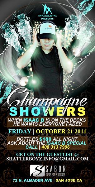 Champagne Showers @ Sabor Tapas Bar & Lounge 10.21.11