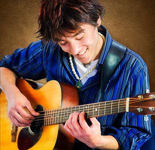 The fingerstyle guitarist
