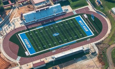 stadium overhead