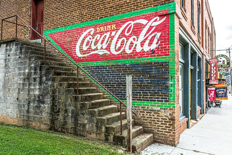 GA, Cave Springs - Coca-Cola Wall Sign 02