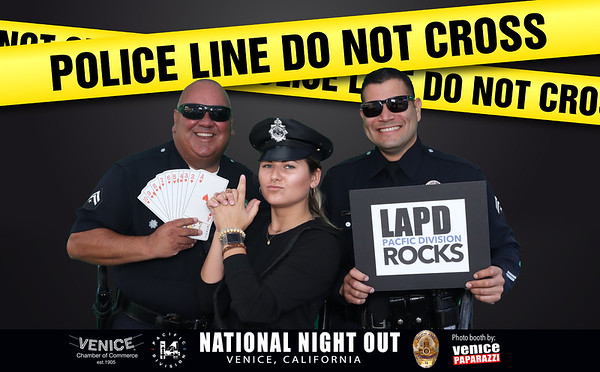 National Night Out Photo Booth Samples