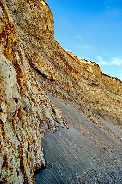 Rocky Sea cliffs. Drakes Beach, California Coast.