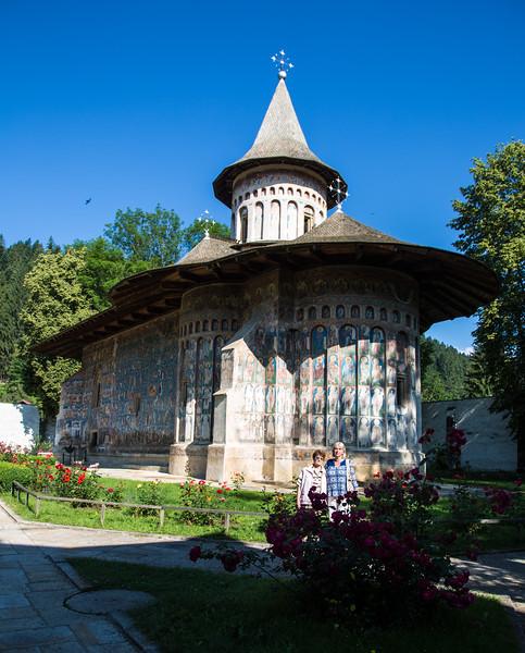 Voronet, the blue jewel of Bucovina, Gura Humorului, Romania - June, 2016