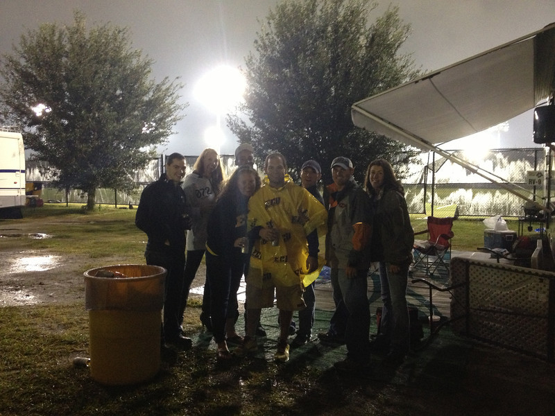 9/29 UTEP Hanging around waiting for the game to resume. Kevin, Stacy, Alex, Lauren, Jon Chris, JG, Emily