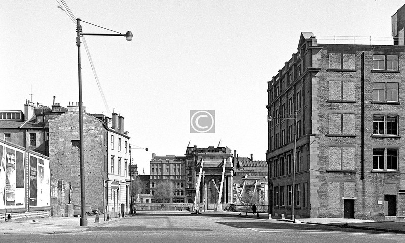 North end of S. Portland St from Oxford St.    April 1973