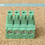 SKU: AE-BLOCK/350/4, Green Connector 3.5mm Pitch 4 Way Pluggable Terminal Block, 4Pin PCB Cable Plug in Screw