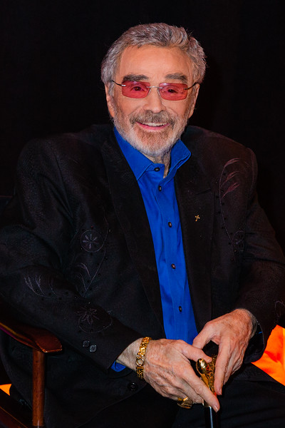 Legendary actor Burt Reynolds is all smiles for the media while waiting backstage at the 2018 Palm Beach Film Festival Student Showcase of Film. The festival was held at the Wold Theater on the Lynn University Campus in Boca Raton on Friday, March 6, 2018.  (Joseph Forzano / The Palm Beach Post)