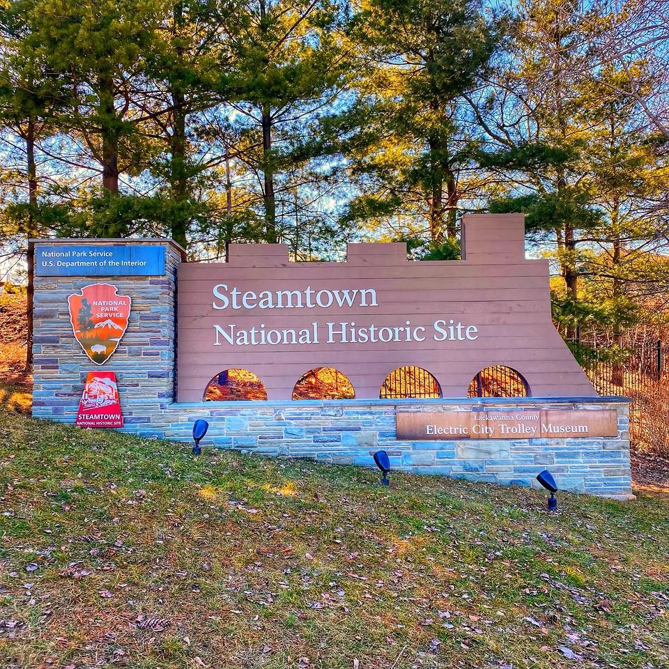 Steamtown national historic site sign - scranton pennsylvania