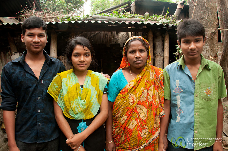Homestay Mother and Children - Hatiandha, Bangladesh