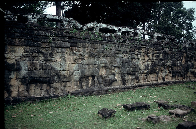 Terrace of the Elephants is 8' high and 300' long