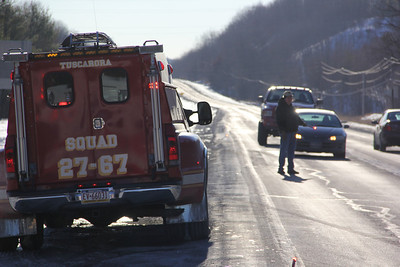 Car vs Van, SR209 and Catawissa Street, Tuscarora, Schuylkill Township (1-29-2014)