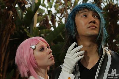 NyankoChi & Pa as Lisbeth & Kirito @ Anime Expo 2013