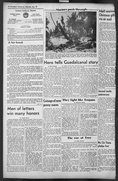 The Trojan, Vol. 35, No. 64, December 27, 1943
