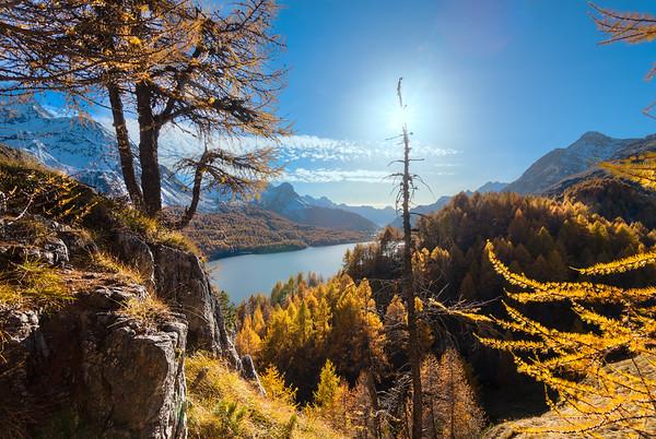 Fotos vom Silsersee im Engadin im Herbst