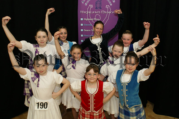 Girls from the Altnaveigh School of dance who competed at the Scottish Highland dancing competitions in Altnaveigh House, 07W37N65