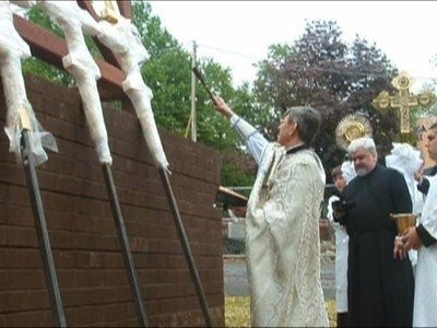 Blessing of the Crosses of the Domes of the new Church