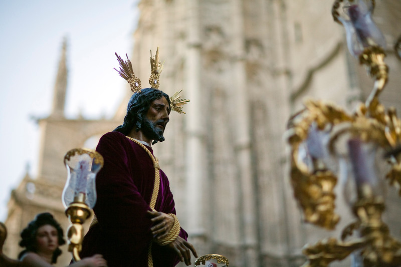 Our Father Jesus the Captive, Santa Genoveva brotherhood, Holy Week 2008, Seville, Spain