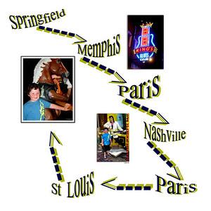 Memphis - Paris - Nashville - St Louis