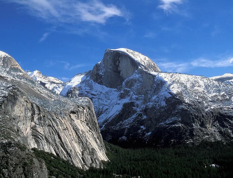 Half Dome in winter, Yosemite National Park California
