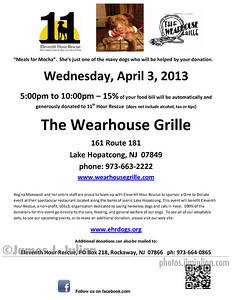The Wearhouse Grille Benefit Dinner