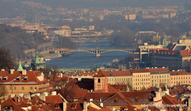 The Vltala River in Prague, Czech Republic, in February 2014