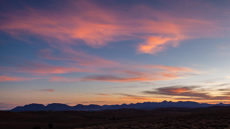 Sunset over Wilpena Pound