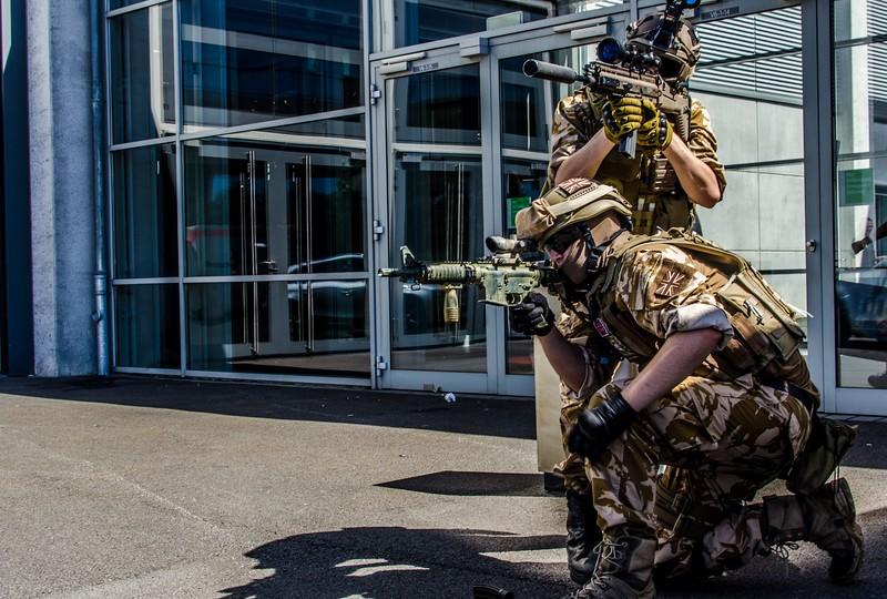 Military guys @ Gamescom 2012