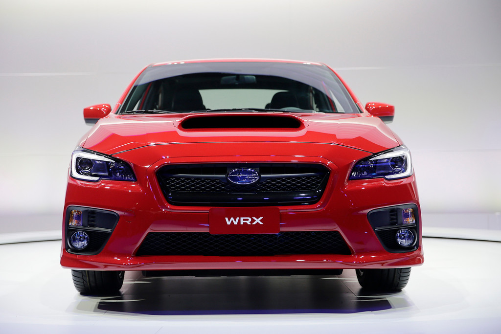 . The new 2015 Subaru WRX is introduced at the Los Angeles Auto Show on Wednesday, Nov. 20, 2013, in Los Angeles. (AP Photo/Jae C. Hong)