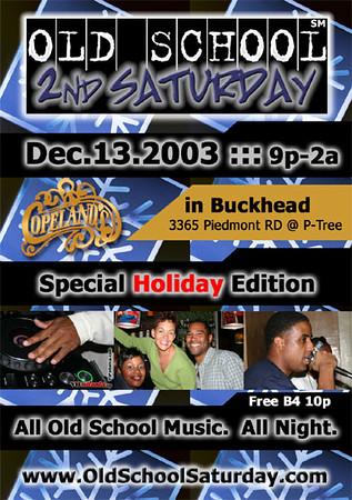Dec-13-2003 OSS @ Copeland's ::: ATL, GA, USA